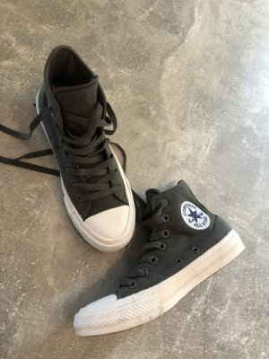 Converse Lace-Up Sneaker anthracite-green grey