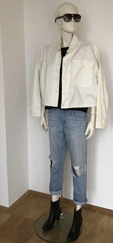 Converse Veste courte blanc cassé coton
