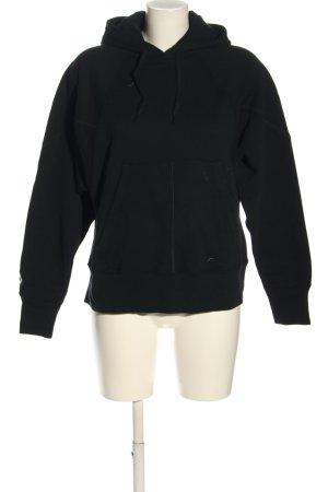 Converse Bluza z kapturem czarny W stylu casual