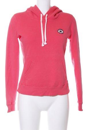 Converse Felpa con cappuccio rosa-bianco stile casual