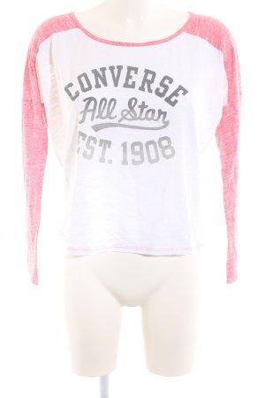 Converse Longsleeve weiß-rot meliert Casual-Look