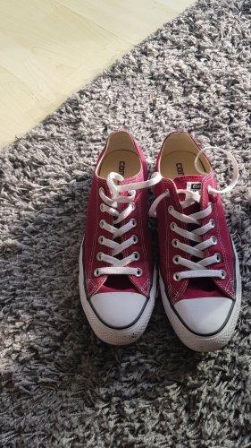 Converse Chaussure skate rouge foncé tissu mixte