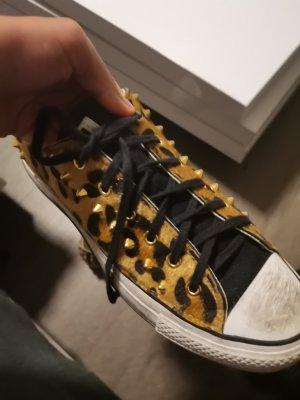 Converse Zapatillas con tacón negro tejido mezclado