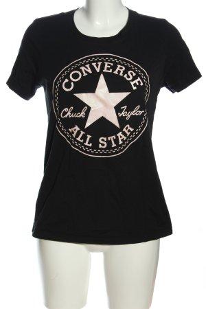 Converse T-shirt imprimé noir lettrage imprimé style décontracté