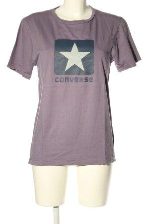 Converse Print-Shirt lila Motivdruck Casual-Look
