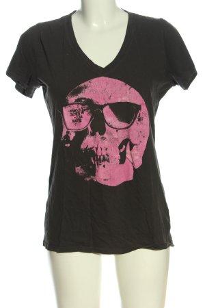 Converse Print-Shirt schwarz-pink Motivdruck Casual-Look