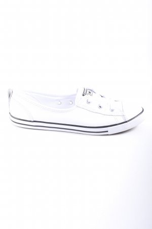 Converse Slip-on Sneakers white-black themed print casual look