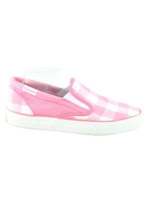 Converse Schlüpfsneaker pink-weiß Karomuster Casual-Look