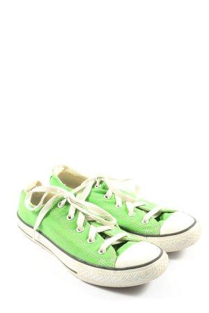 Converse Schnürsneaker grün-weiß Casual-Look