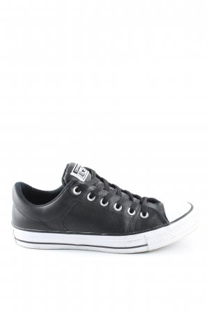 Converse Lace-Up Sneaker black-white casual look
