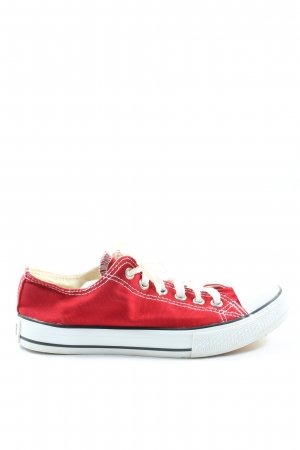 Converse Lace-Up Sneaker red-white elegant