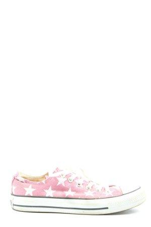 Converse Schnürsneaker pink-weiß Motivdruck Casual-Look
