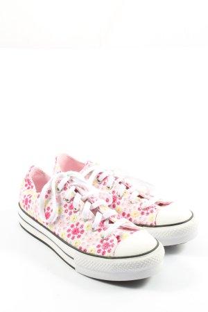 Converse Schnürsneaker weiß-pink sportlicher Stil