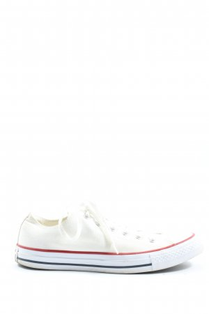 Converse Lace-Up Sneaker white-red casual look