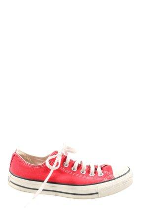 Converse Schnürsneaker rot-weiß sportlicher Stil