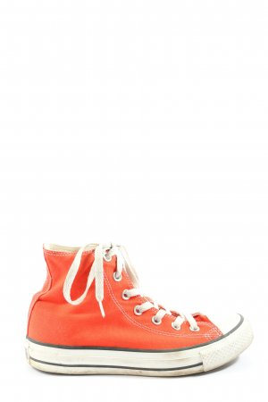 Converse Lace-Up Sneaker orange casual look