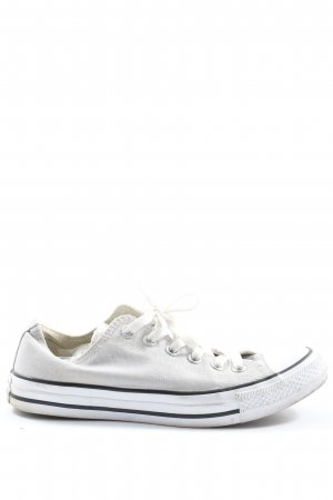Converse Lace-Up Sneaker white-black striped pattern casual look