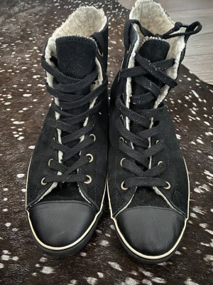 Converse High top sneaker zwart Leer