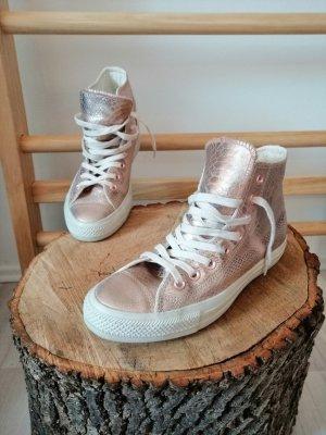 Converse Sneaker in rose-gold mit Schlangenoptik