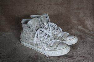 Converse Sneaker - weiß, silber - Größe 39,5