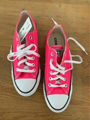 Converse Lace-Up Sneaker neon pink mixture fibre