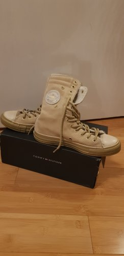 Converse Lace-up Booties cream