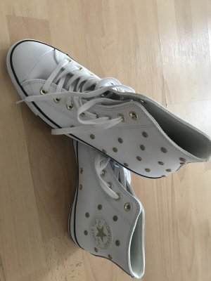 Converse Short Boots white-gold-colored