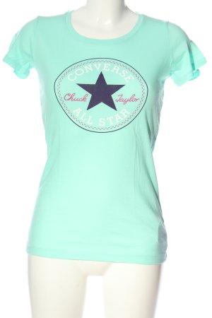 Converse T-shirt turchese Stampa a tema stile casual