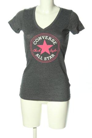 Converse T-Shirt hellgrau-pink meliert Casual-Look