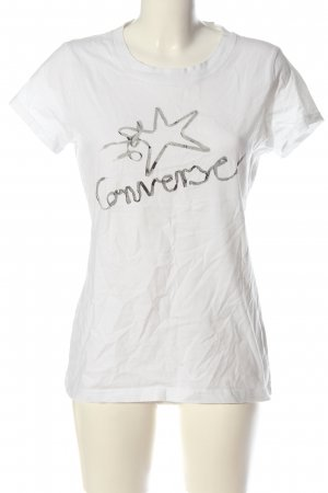Converse T-Shirt white themed print casual look