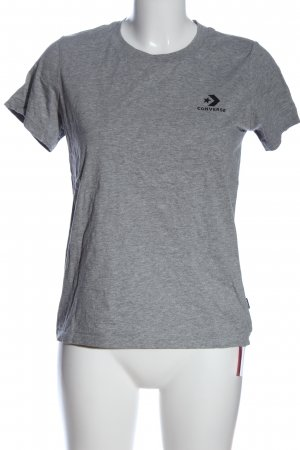 Converse T-shirt grigio chiaro caratteri stampati stile casual