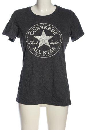 Converse T-Shirt hellgrau-weiß Motivdruck Casual-Look