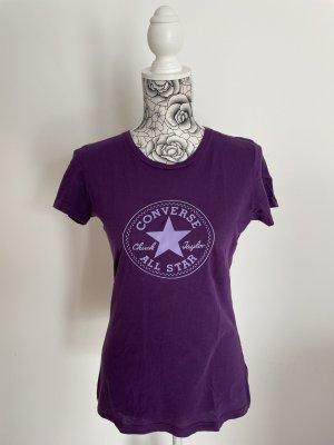 Converse T-shirt viola scuro-blu-viola