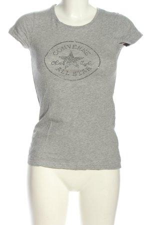 Converse T-shirt jasnoszary Melanżowy W stylu casual