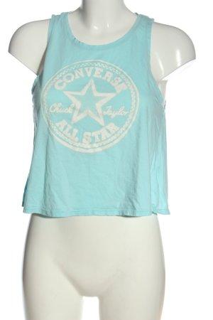 Converse Tanktop blau-weiß Motivdruck Casual-Look