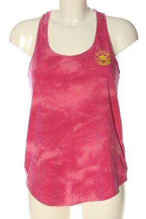 Converse Canotta rosa-giallo pallido motivo astratto stile casual