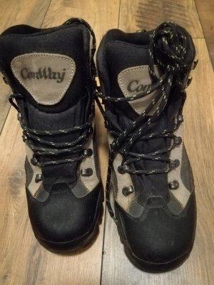 Conway Halfhoge laarzen zwart-beige Gemengd weefsel