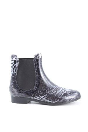 Conway Slip-on Booties black animal pattern casual look