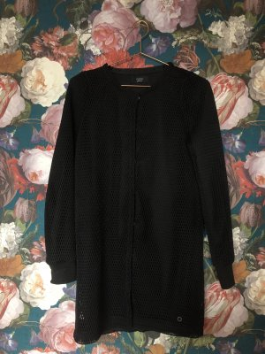 Cool Black: Mesh Long Cardigan