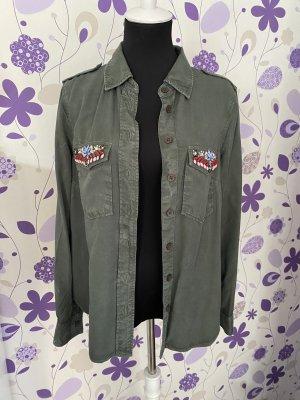 CoolCat Long Sleeve Shirt khaki-green grey