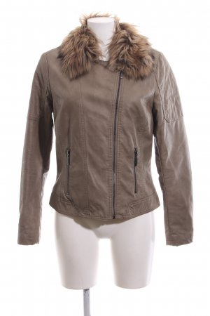 Cool Code Faux Leather Jacket bronze-colored casual look