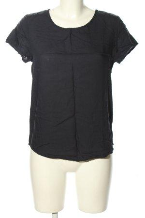 Cool Code Kurzarm-Bluse schwarz Casual-Look