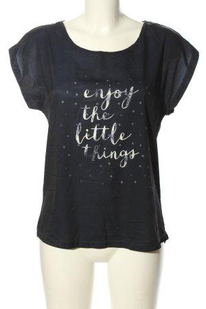 Cool Code Print-Shirt schwarz Schriftzug gedruckt Casual-Look