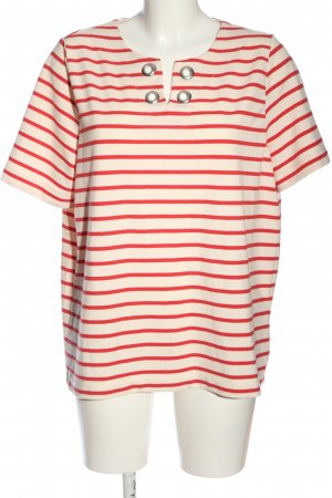 Cool Code Maglietta a righe rosa-rosso motivo a righe stile casual