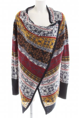 Cool Code Strick Cardigan Allover-Druck Casual-Look