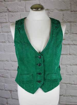 Cecil Biker Vest forest green-green cotton