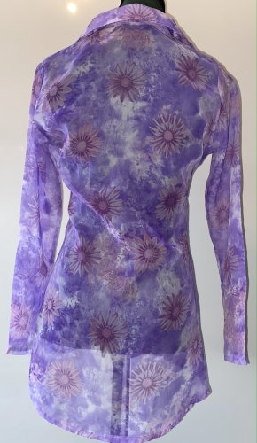 Another Label Blouse transparente multicolore polyester