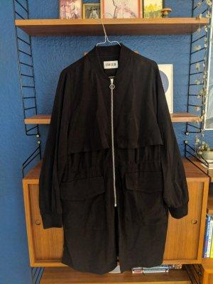 Cool long silk effect jacket