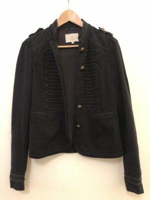 Essentiel Antwerp Military Jacket dark blue cotton