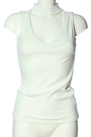 CoolCat Blusa senza maniche bianco stile casual